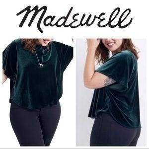NWT Madewell Velvet Butterfly Top